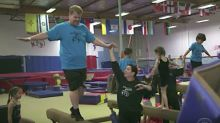 James Corden Is No Simone Biles As He Scouts Gymnastics School For Son