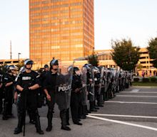 Riot Cops In St. Louis Cracked Down On A Peaceful Protest Before The Sun Set