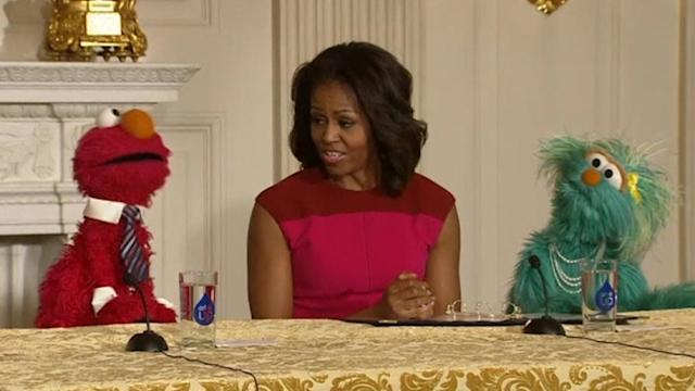 Michelle Obama has a date with Elmo