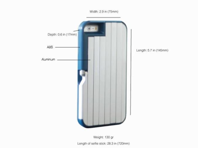 Stikbox: iPhone Case mit Selfie-Stick