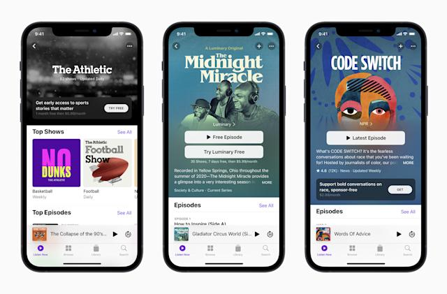 Apple will launch podcast subscriptions next month