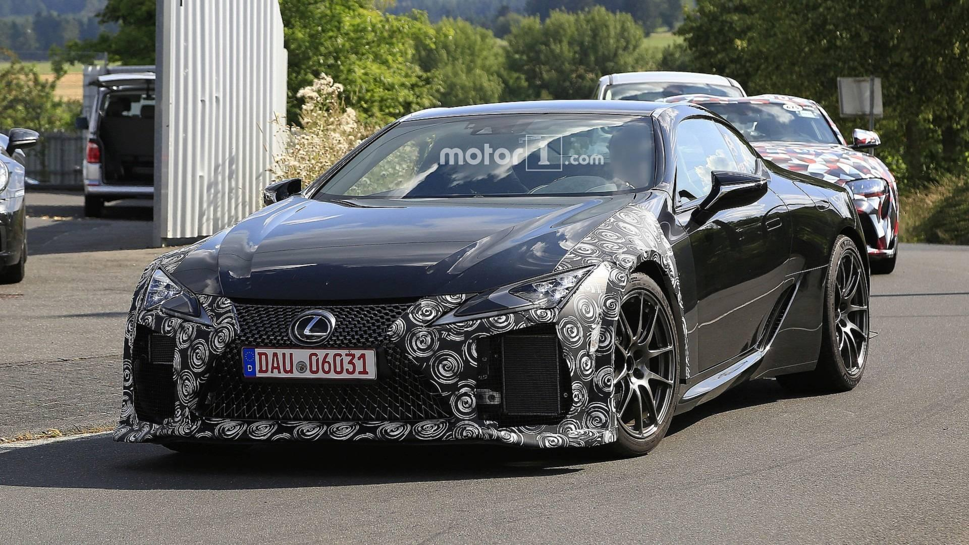 Lexus Lc F Spotted Hide Aggressive Face