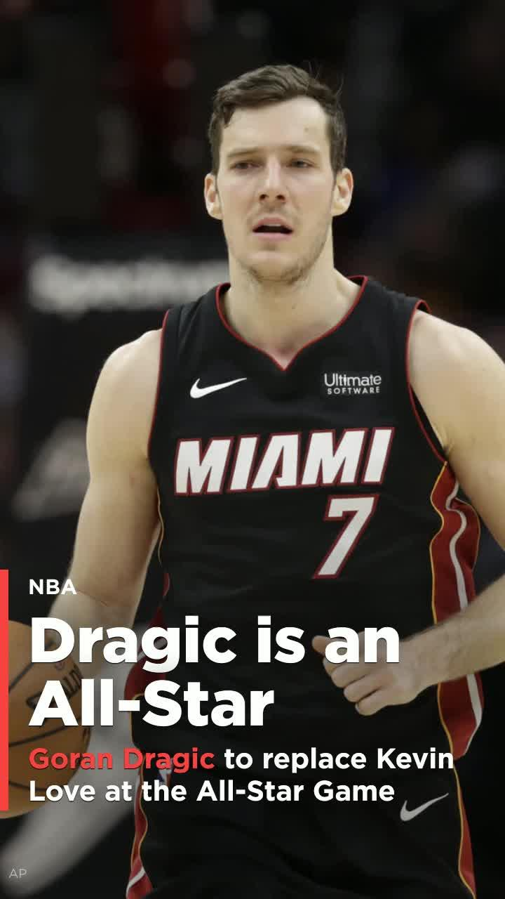 b66b5b746 Heat s Goran Dragic to replace the injured Kevin Love at the All-Star Game   Video