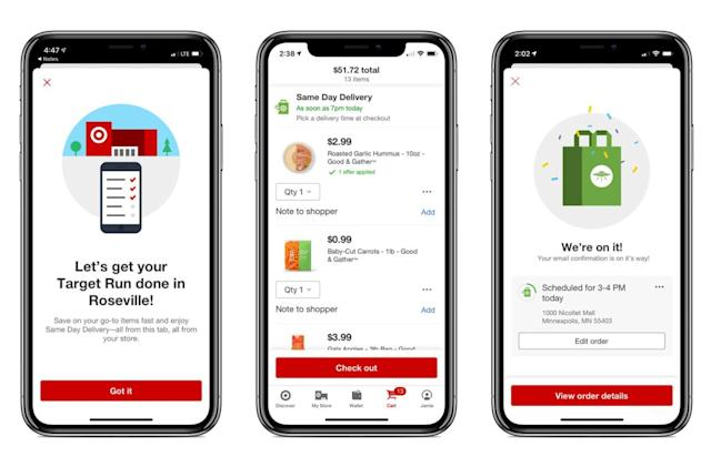 Target's same-day shipping service is now available in-app