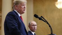 Trump questions his own intelligence agency at summit with Putin
