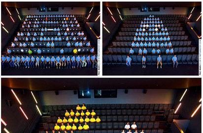 Pac-Man reenacted by humans in stop motion masterpiece