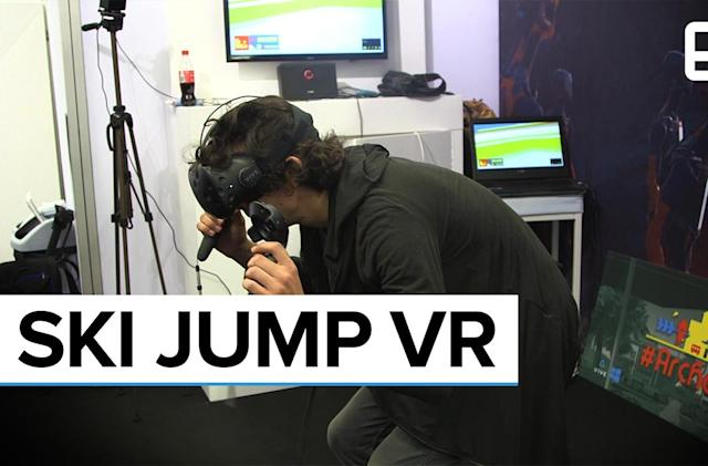 '#SkiJump' is an exhausting, but fun VR game