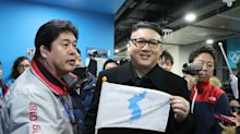 Kim Jong-un impersonator ejected from Winter Olympics ice hockey for dancing with cheerleaders