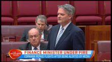 Finance minister under fire