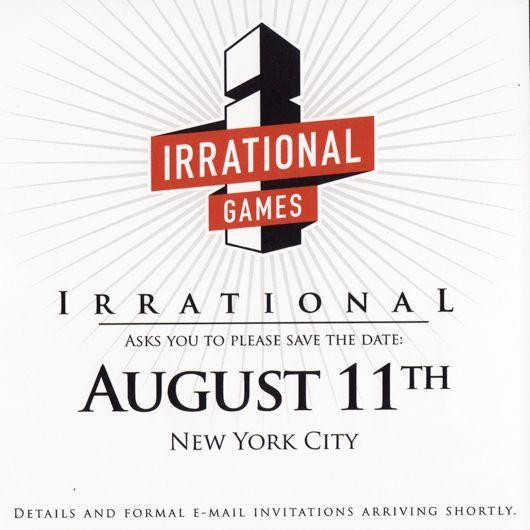 Irrational Games event on August 11th in NYC, game reveal probable