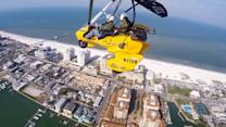 Flying over Clearwater Beach in a Trike