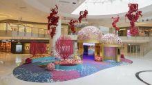 ELEMENTS 新春花藝裝置 浪漫光影區+互動投影錦鯉+拍攝賀年貼圖