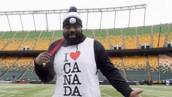 Hulking lineman Derek Dennis has experienced racism while playing in Canada