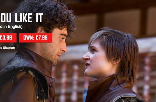 Performances from Shakespeare's Globe Theatre are available online