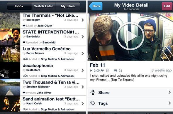 Vimeo for iPhone now available, features video editor