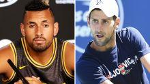 'He went missing': Nick Kyrgios unimpressed by Novak Djokovic feat