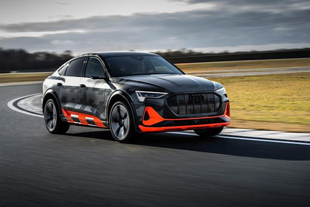 Audi's tri-motor E-Tron S electric cars will be ready to drift