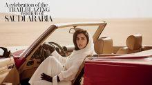 Histórica portada de Vogue Arabia muestra a una princesa manejando