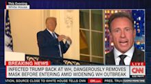 Chris Cuomo calls Trump a 'COVIDIOT' for returning to the White House so soon: 'What a bunch of bulls***'