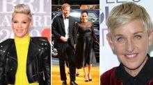 Pink and Ellen Degeneres join Elton John in defending Harry and Meghan's use of private jet