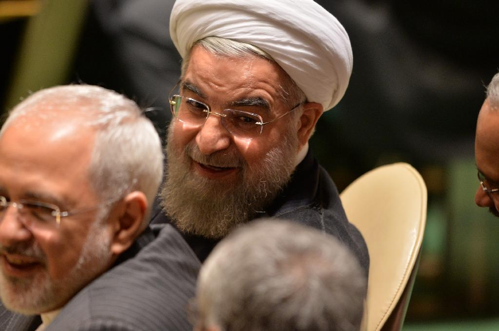 President of Iran Hassan Rouhani arrives during the 70th session of the United Nations General Assembly on September 25, 2015, at the United Nations (AFP Photo/Dominick Reuter)