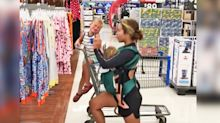 Mom who was trolled for shopping workout video claps back with another one in Walmart