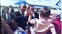 4-year-old gives President Obama high five