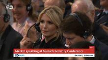 The internet thinks Ivanka Trump was staring at Angela Merkel during trade war speech