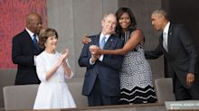 George W. Bush Sneaking Michelle Obama Some Candy Is the Internet's New Obsession