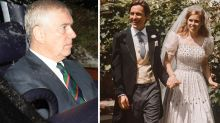 Prince Andrew nowhere to be seen in new pics from Beatrice's wedding