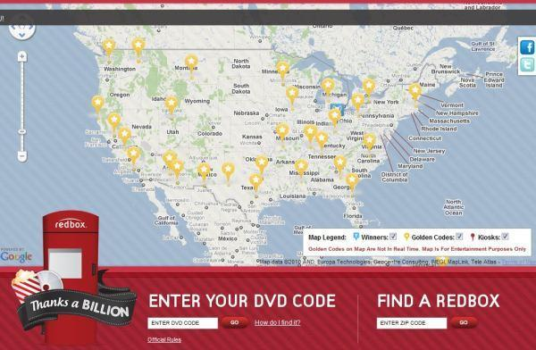 Redbox crosses a billion rentals and celebrates with a giveaway