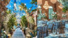 充滿冬日浪漫氣氛!淡藍色系+閃爍佈置,讓你變身童話主角的灰姑娘主題餐廳