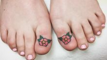 This woman got tattoos in place of her toenails and Instagram can't cope