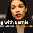 Rep. Alexandria Ocasio-Cortez joins Bernie in backing voting rights for prisoners