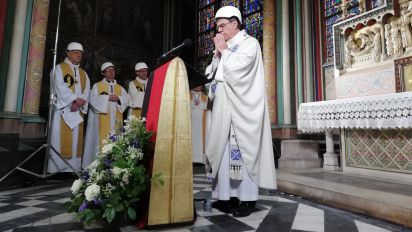Notre Dame Cathedral holds first Mass since devastating fire in April