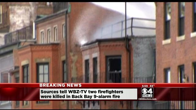 2 Firefighters Killed In 9-Alarm Back Bay Blaze