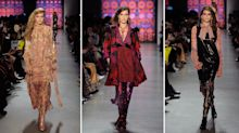 The 'it' girl model trifecta walked this posh runway show