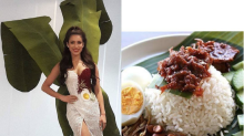 Miss Universe Malaysia's national costume for this year was inspired by Nasi Lemak