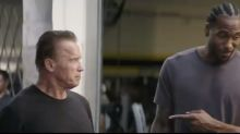 Kawhi teams up with Schwarzenegger in bizarre 'Terminator' ad