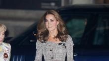 Kate Middleton impresiona en moderno vestido