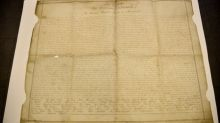 How did a copy of U.S. Declaration of Independence get to southern England?