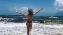 El topless de Laurita Fernández para despedirse de sus vacaciones en México