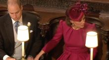 Prince William and Kate make rare affectionate public gesture at wedding