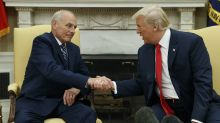 Trump defends chief of staff John Kelly after report says they may be on a 'collision course'