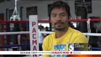 Manny Pacquiao: `Please Give What You Can`