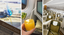 What it's really like to fly business class