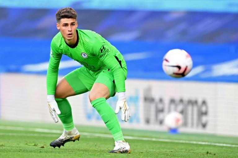 Dodgy Kepa: Kepa Arrizabalaga made the latest in a series of errors in Chelsea's 2-0 defeat to Liverpool