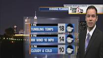 Temps tumble into single digits by Monday morning