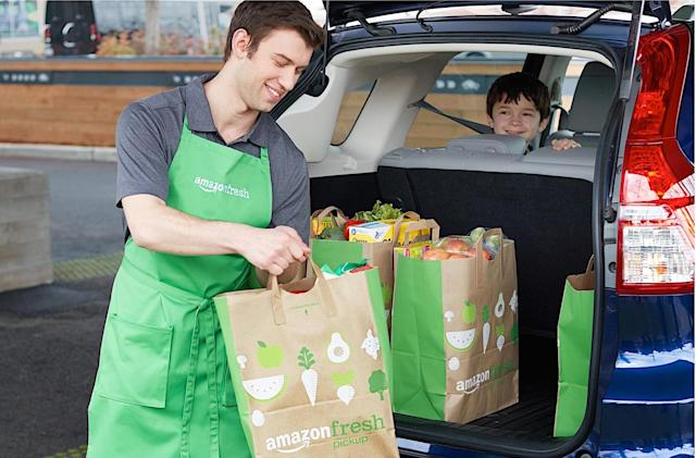 Amazon opens its first drive-through grocery store