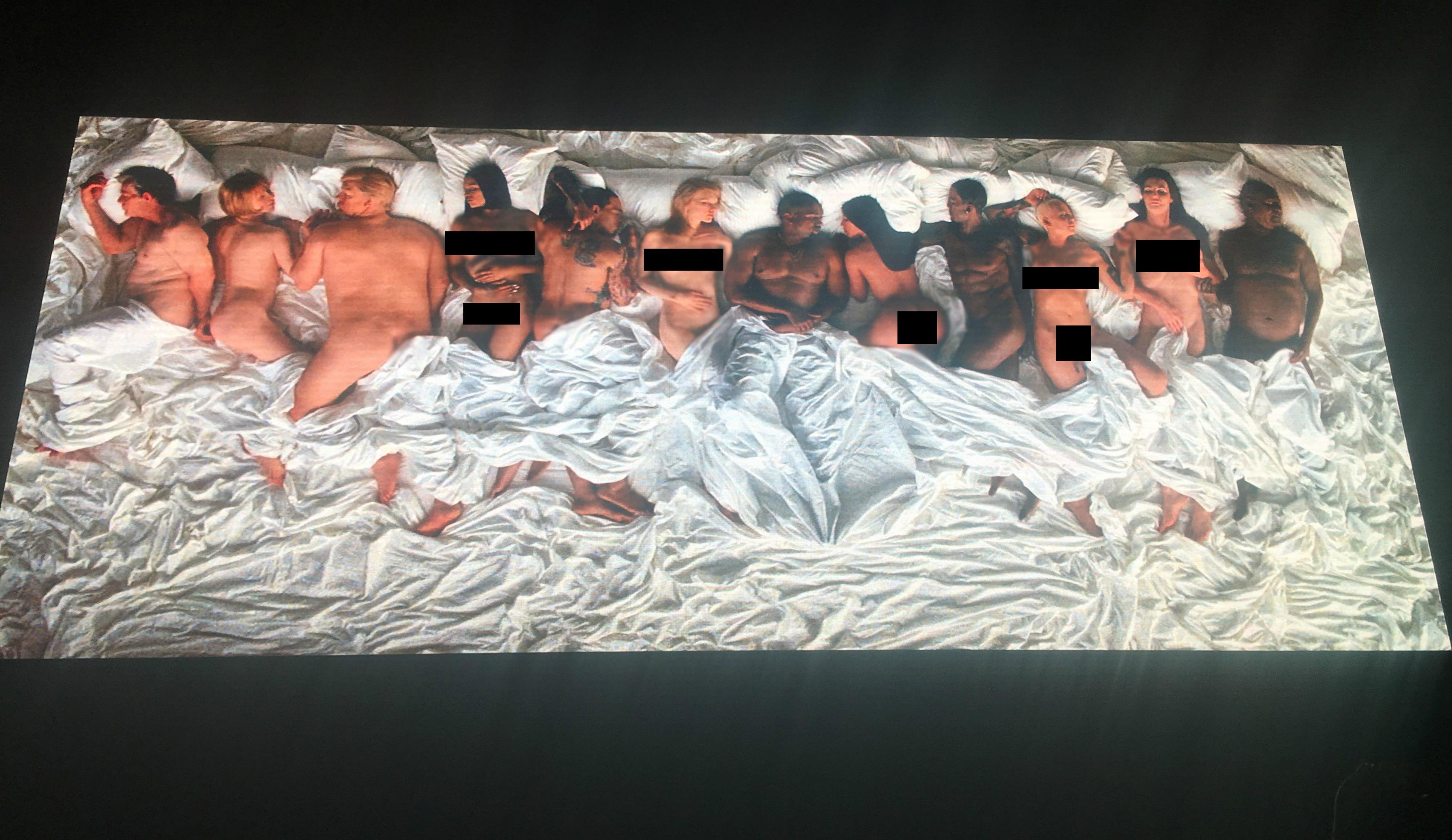 Taylor Swift and Donald Trump appear naked in Kanye Wests